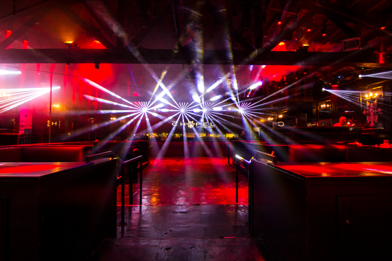 abbey west hollywood - dancefloor lights
