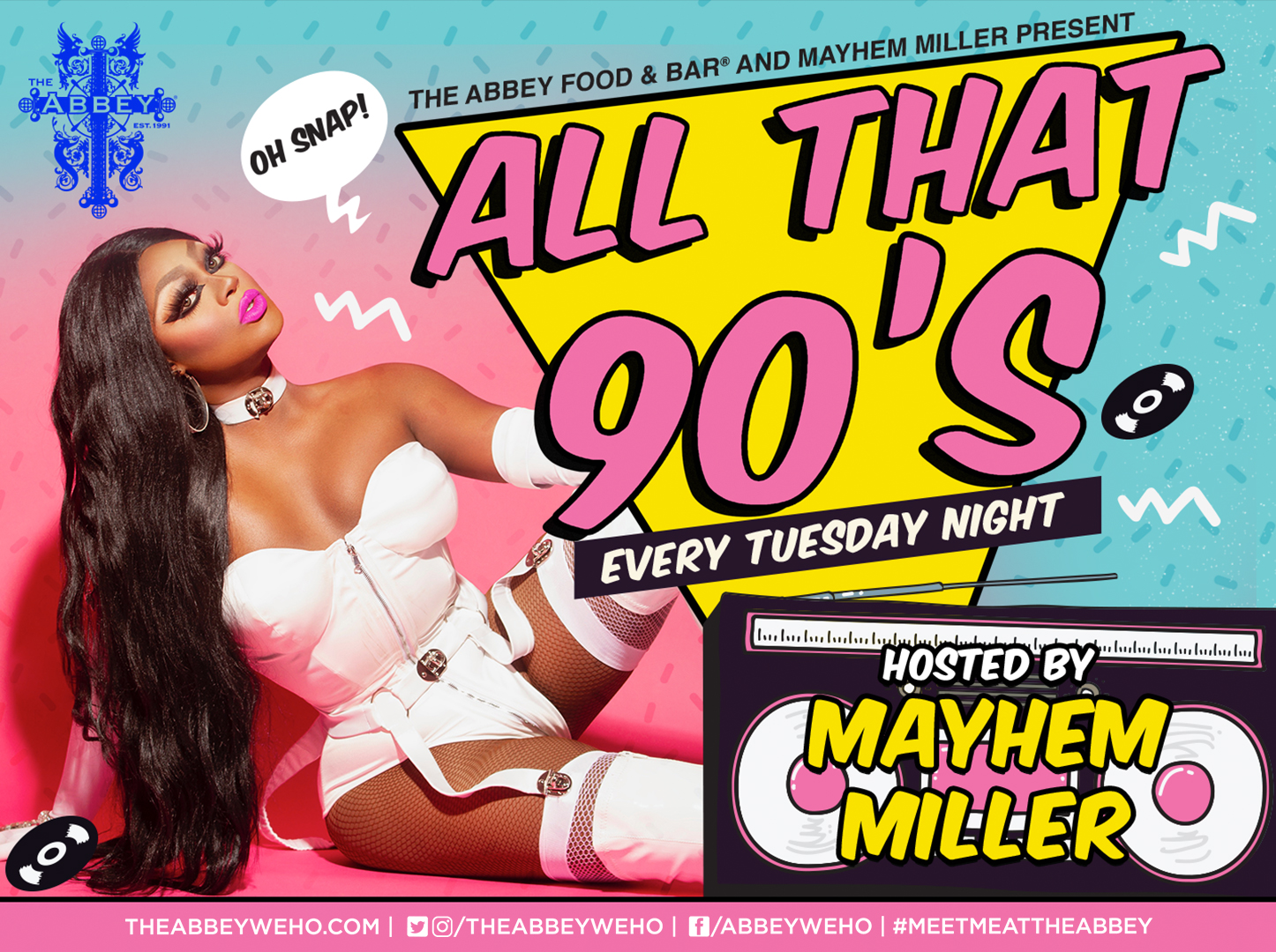AllThat90s Flyer with Mayhem Miller