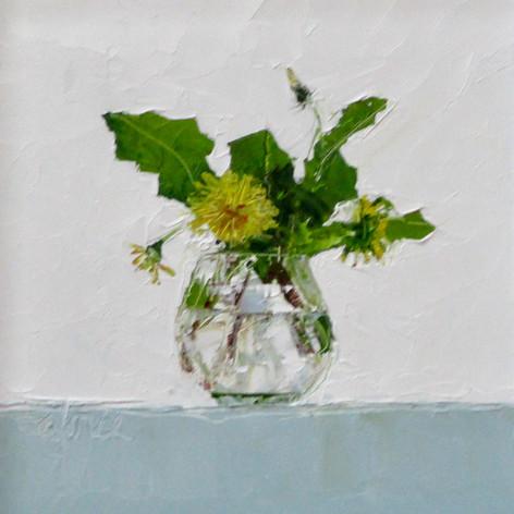 Dandelions in Brandy Glass II