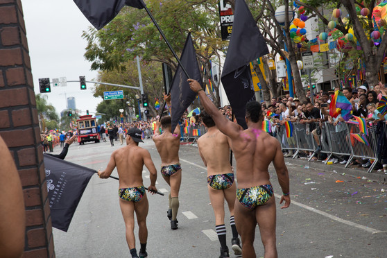 THE ABBEY WEHO DANCERS AT GAY PRIDE PARADE