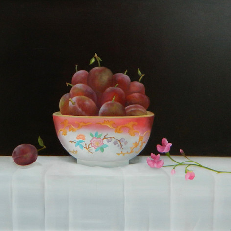 President Plums in a Bowl