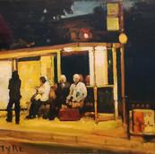 Evening, Bus Stop, Edinburgh