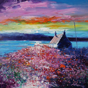 A Field Of Sea Pinks, Isle Of Canna