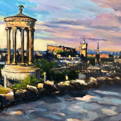 Sunrise on Calton Hill