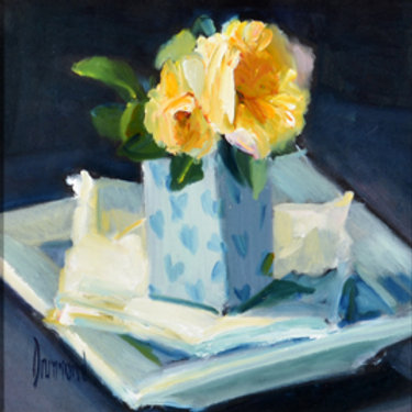 'Little Yellow Roses' by Marion Drummond