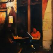 Study, Evening - Cafe, East Berlin