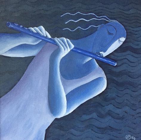 The Blue Flautist