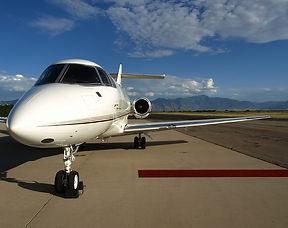 飛行機とレッドカーペット