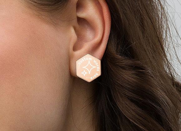 Hexagon Stud Earrings- customize