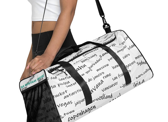 Duffle bag in Bucket List all over Print