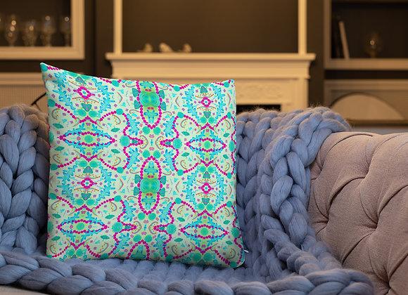 Premium Pillow in Seaside Treasures pattern mint print