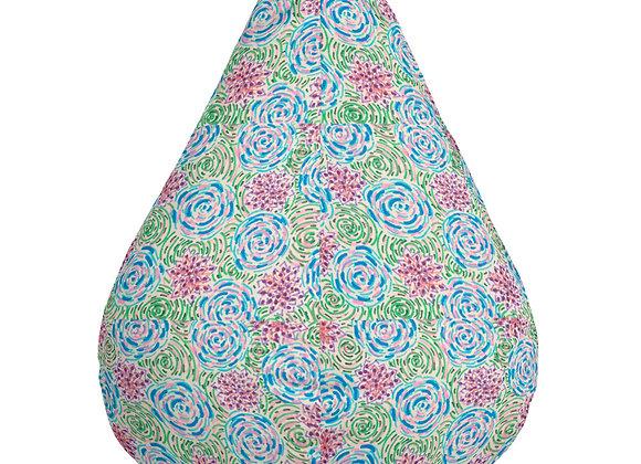 Bean Bag Chair Cover in Peonies & Posies