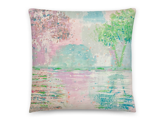 Basic Pillow in cloud9 reflections all over print