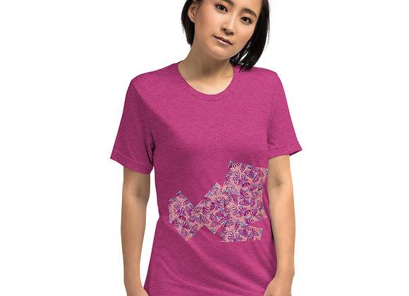 Short sleeve t-shirt in Umbrella Fun patch print