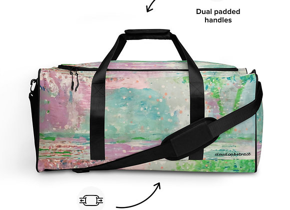Duffle bag in cloud9 Reflections all over Print