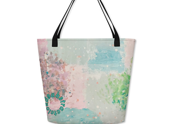 Beach Bag in cloud9 reflections all over print