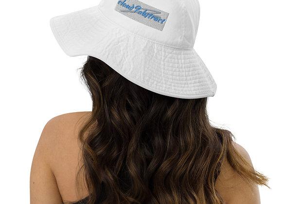 Wide brim bucket hat -cloud9abstract logo