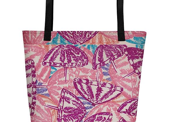 Beach Bag in Umbrella Fun all over print