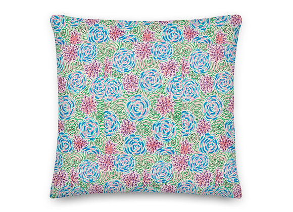 Premium Pillow in Peonies & Posies