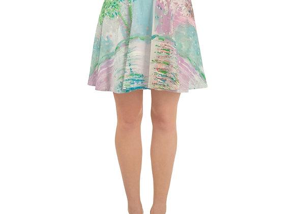 Skater Skirt in Reflections all over print