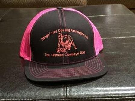 Hat: Black/Pink with Pink Logo