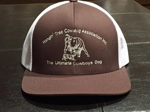Hat: Brown/White with White Logo