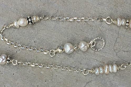 Fresh Water Pearl & Sterling Silver Bracelet