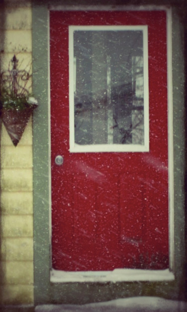 ...the red front door...