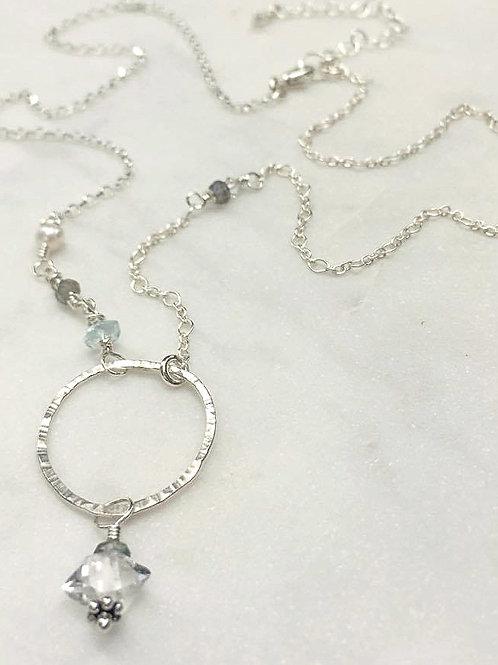 Sterling Silver & Herkimer Diamond Necklace