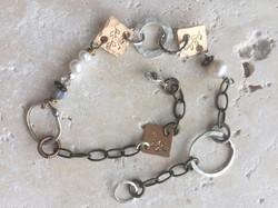 Hammered Bronze Bracelet