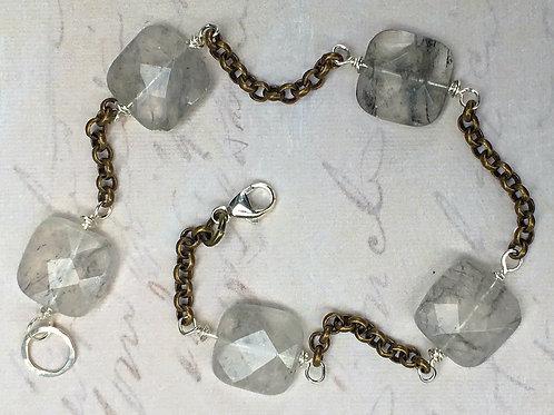 Faceted Mist Quartz Bracelet
