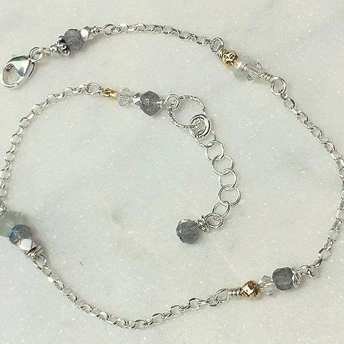 Labradorite & Gold Bracelet