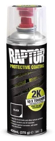 Raptor-liner 2K spuitbus zwart
