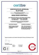 CF5254 Boss Door Controls JUL20 TS3003 T