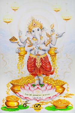Ganesha Painting Tonthong Gallery 10.10.