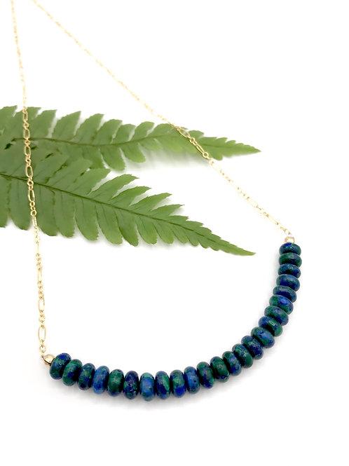 Azurite Half Moon Necklace