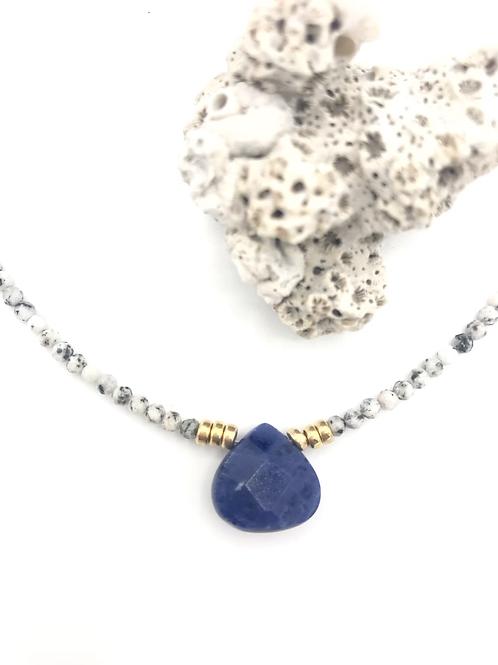 Sodalite Drop Necklace