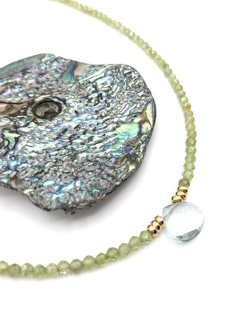 Aqua Peridot Necklace
