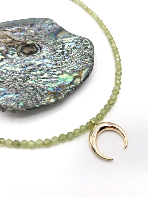 Peridot Crescent Necklace