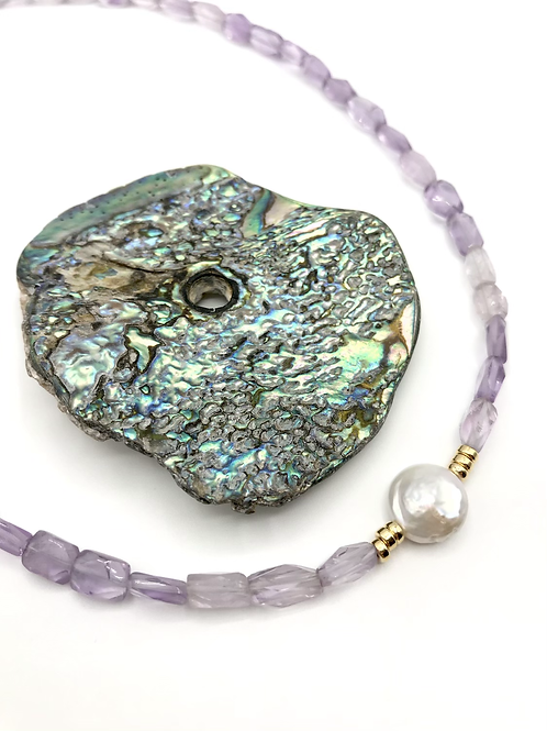 Amethyst Pebble Cove Necklace