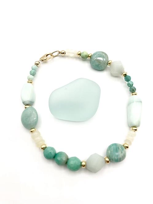 Opal Ombré Layering Bracelet
