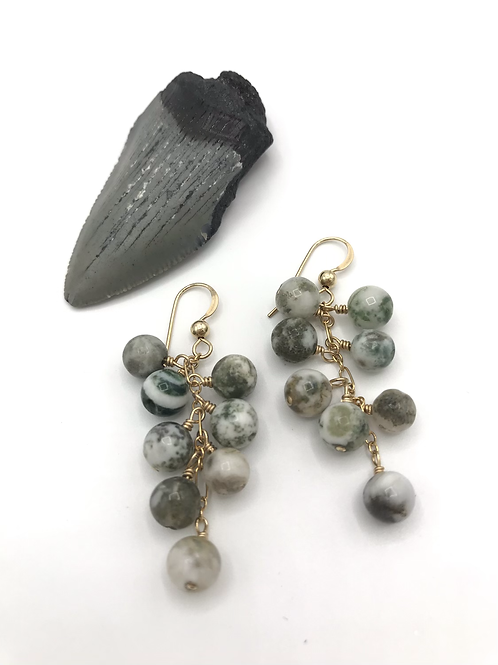 Tree Agate Dancing Dangles