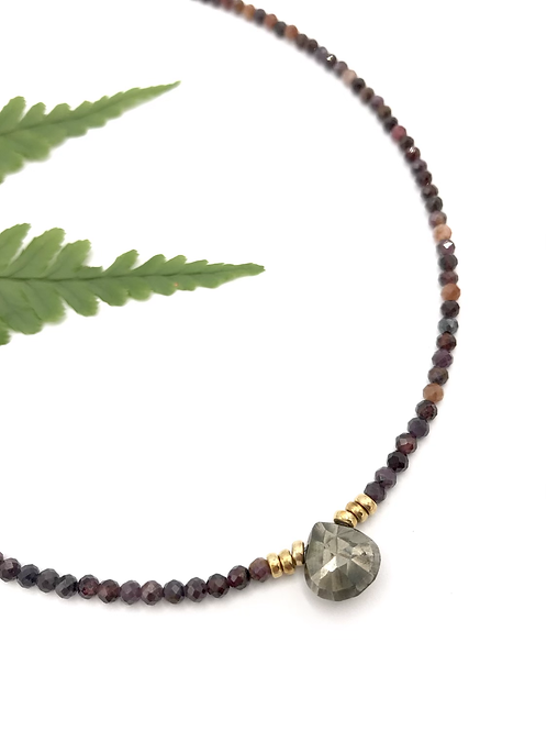 Ruby Pyrite Necklace
