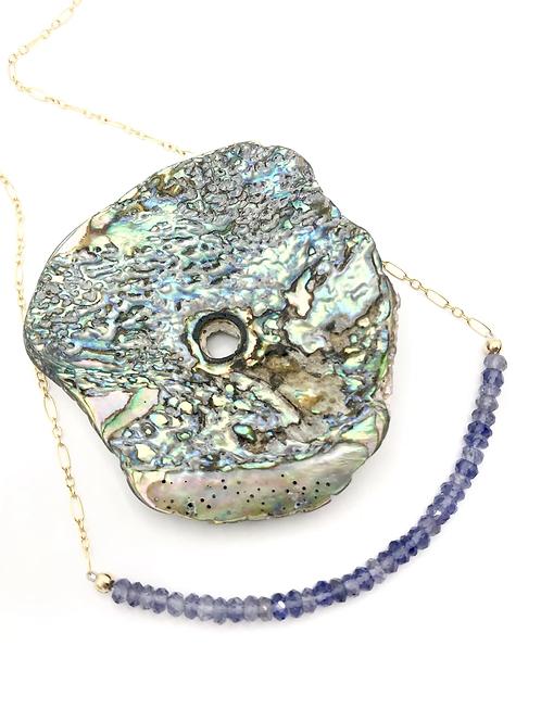Iolite Half Moon Necklace