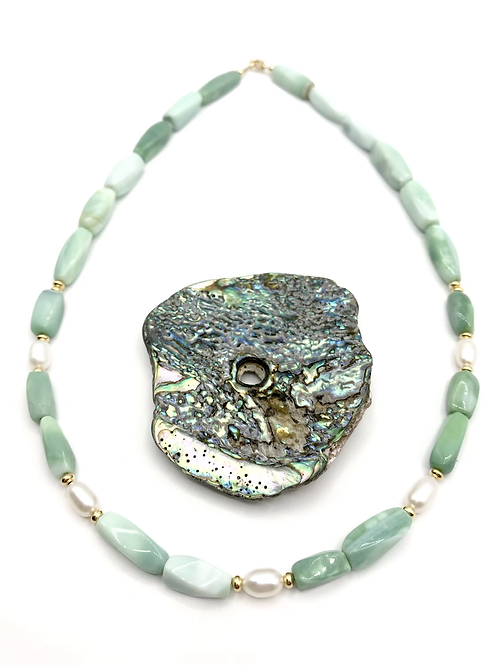 Green Opal Shoreline Necklace