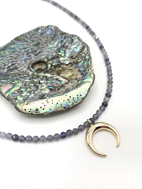 Iolite Crescent Necklace