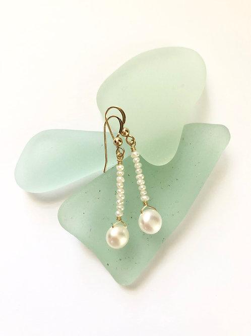 Button Pearl Dangles
