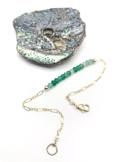 Green Onyx Half Moon Bracelet