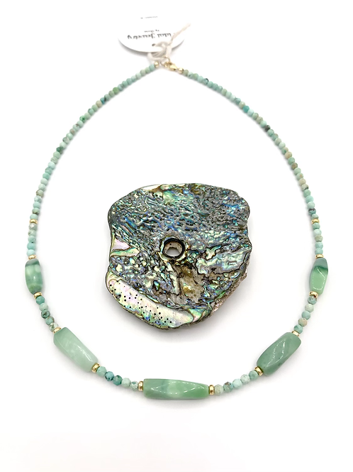 Seafoam Opal Necklace