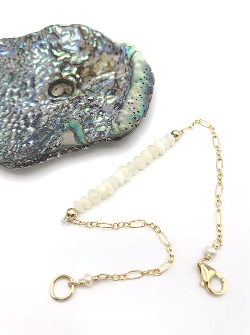 Opal Half Moon Bracelet